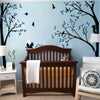 Two Trees with Birds and Squirrels Decal Vinyl Wall Sticker