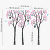 Three Trees with Birds and Birdhouses Decal Vinyl Wall Sticker