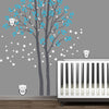 2 trees with 3 Owls Decal Vinyl Wall Sticker