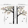 Split Tree Trunk and Ladybirds Decal Vinyl Wall Sticker