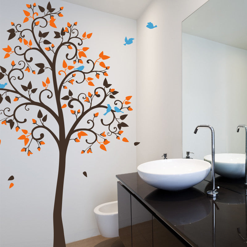 Lovely Tree with Birds Decal Vinyl Wall Sticker