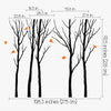 woodland tree wall sticker dimentions