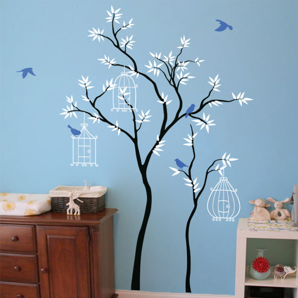 Thin Trees with Birdcages R32