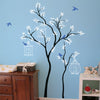 Thin Trees with Birdcages Decal Vinyl Wall Sticker