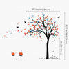 Tree with Birds and Hedgehogs Decal Vinyl Wall Sticker