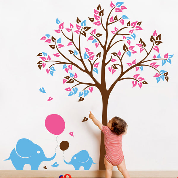 Tree with Baby Elephants and Balloons R37