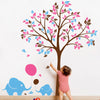 Tree with Baby Elephants and Balloons Decal Vinyl Wall Sticker