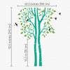 nursery wall sticker with birds dimentions