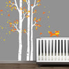 3 Trees and a Fox Decal Vinyl Wall Sticker