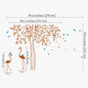 Classic Tree with Flamingos Decal Vinyl Wall Sticker