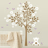 Simple Tree with Teddy Bear Decal Vinyl Wall Sticker