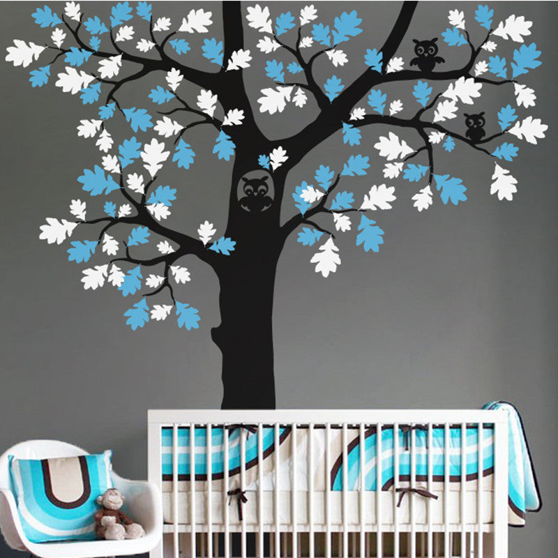 Owl in a Tree Decal Vinyl Wall Sticker