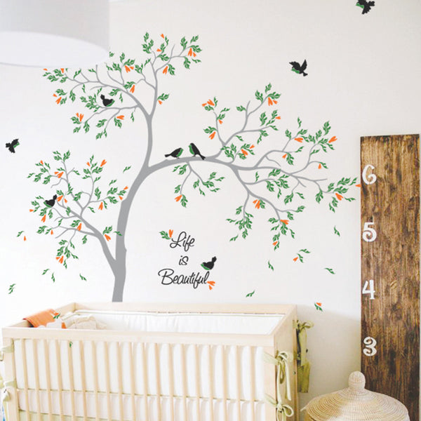 Big Bold Tree With Child's Name Wall Sticker R49
