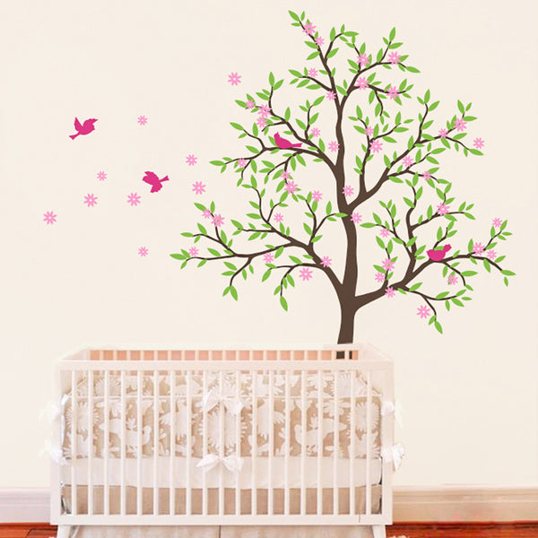 Delicate Early Spring Tree Wall Sticker R4