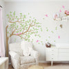 Wind Blown Tree And Birds Wall Sticker Decal Vinyl Wall Sticker