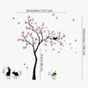 Pretty Tree With Birds, Rabbits And Caterpillar Decal Vinyl Wall Sticker