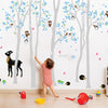 Woodland Scene With Lots Of Animals And Your Name Wall Sticker Decal Vinyl Wall Sticker