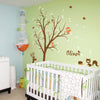 Tree With Animals And Name Decal Vinyl Wall Sticker