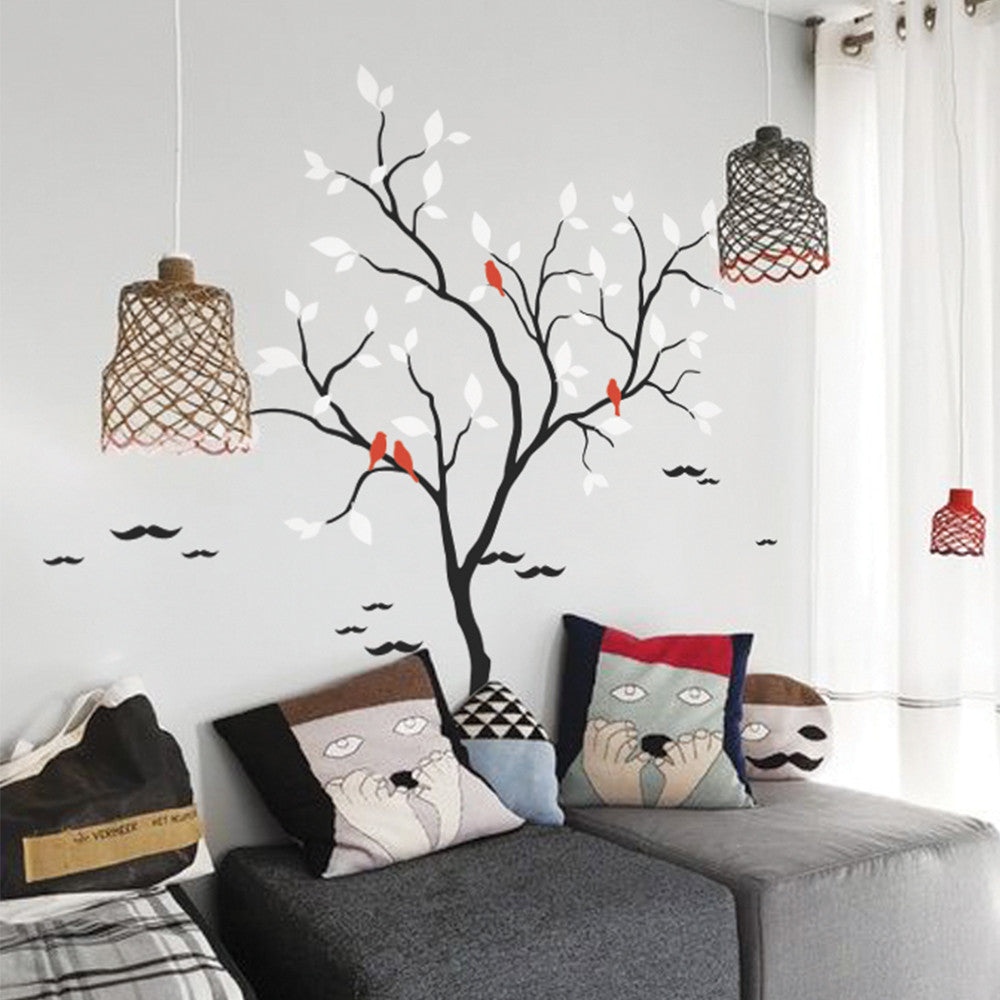 Cool Tree And Birds Decal Vinyl Wall Sticker