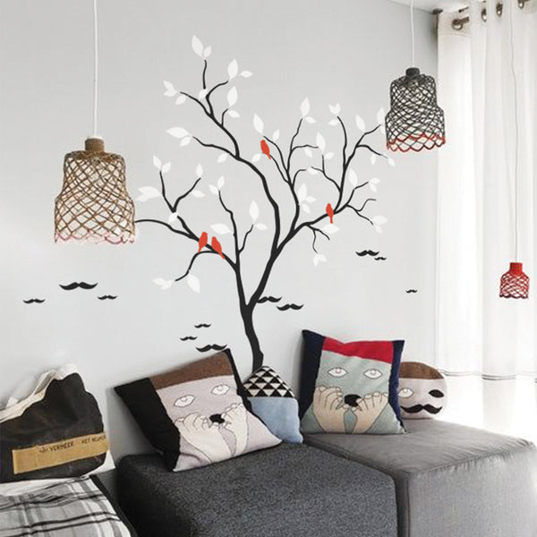 Cool Tree And Birds Wall Sticker R59