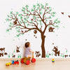 Woodland Animals And Tree Wall Sticker Decal Vinyl Wall Sticker