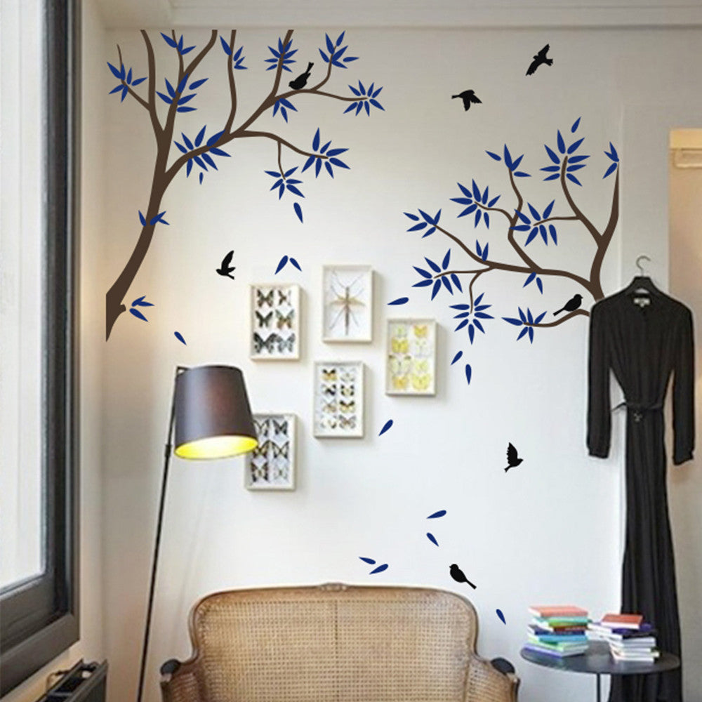 Tree Branches And Birds Decal Vinyl Wall Sticker