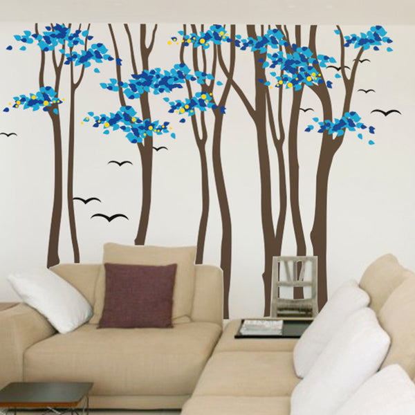Tall Woodland Trees With Birds R70