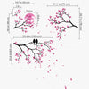 Romantic Branches, Birds And Moon Decal Vinyl Wall Sticker