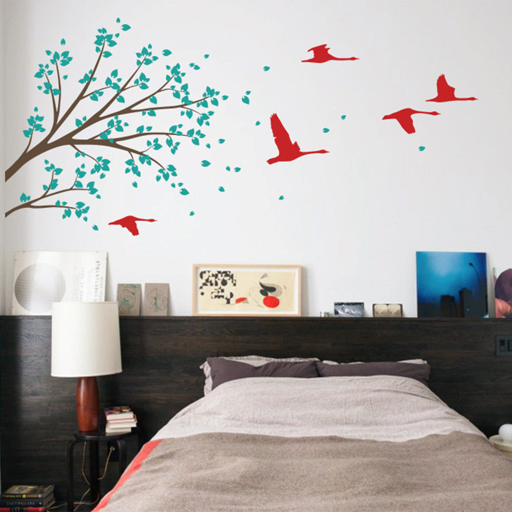 Branches And Birds Decal Vinyl Wall Sticker