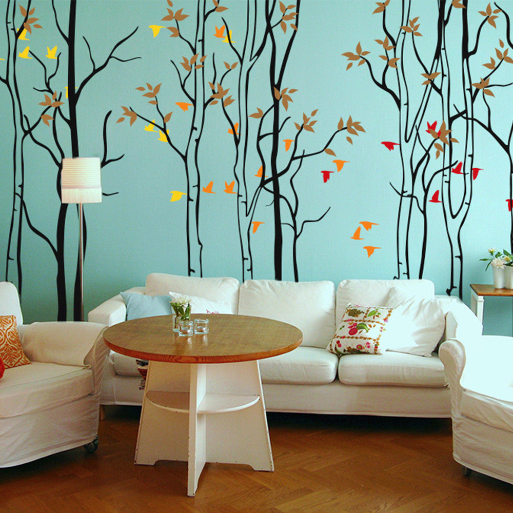 Woodland Silhouette Decal Vinyl Wall Sticker