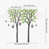 Twin Trees with Birdhouses Decal Vinyl Wall Sticker