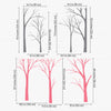 Woodland Treescape Decal Vinyl Wall Sticker