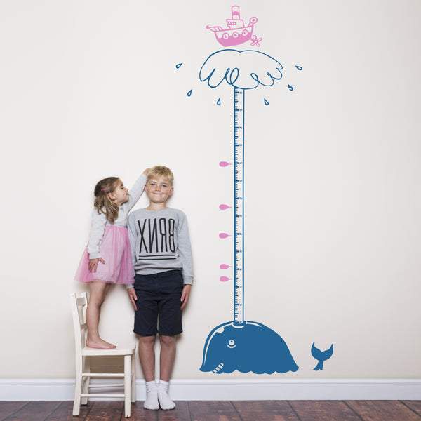 Height chart with Whale