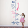 Animals on a Trampoline Height Chart for Children