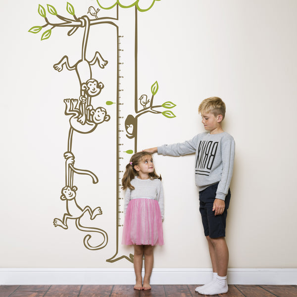 Monkeys Hanging from Tree Height Chart