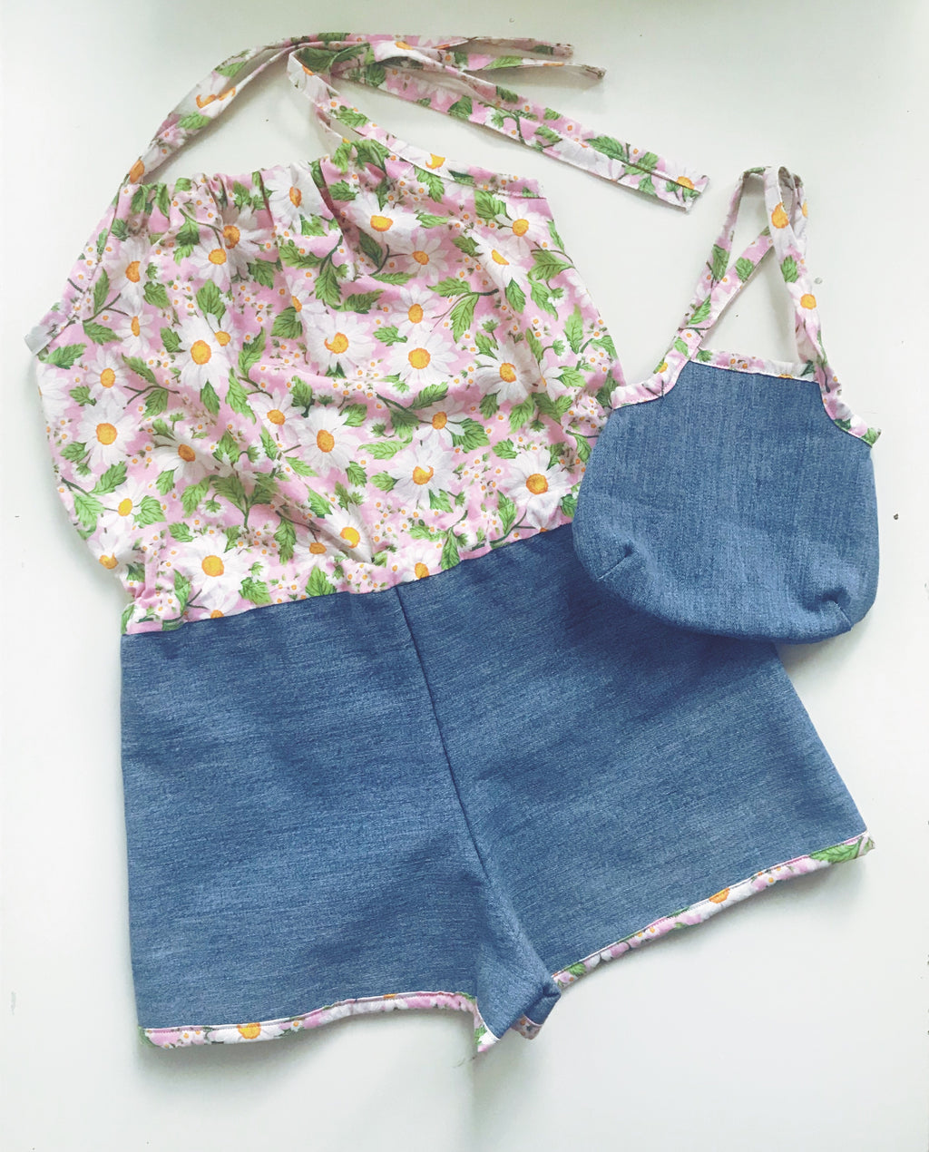 The Ruby Wild Romper size 4 with matching purse
