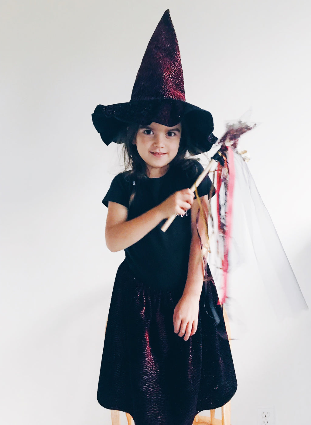 Red Star Witch Hat, skirt & wand set