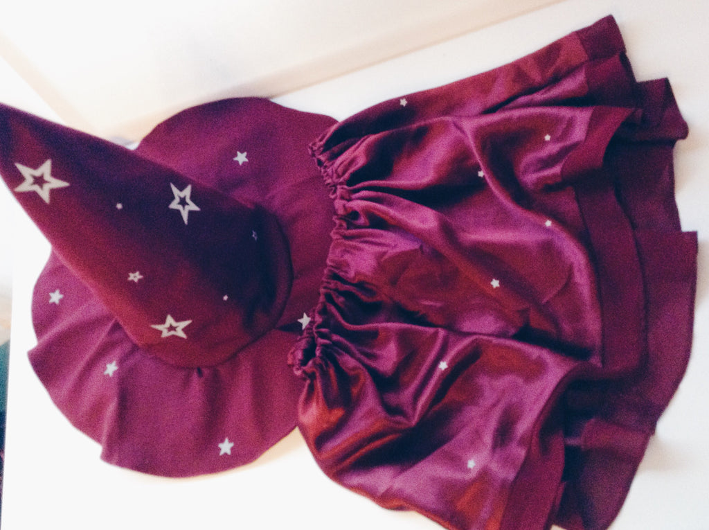 Star ruby Witch Hat & skirt