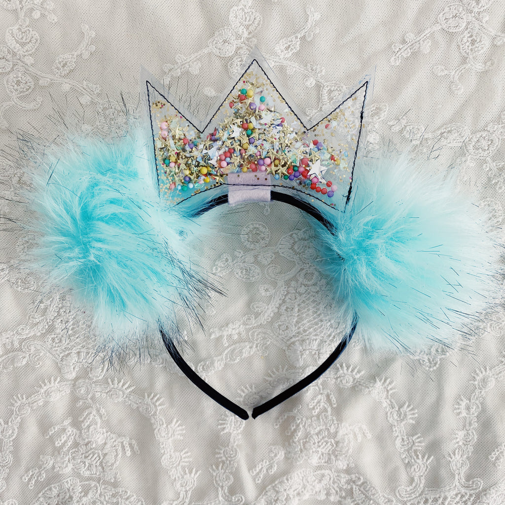 Iridescent Crown Bear headband