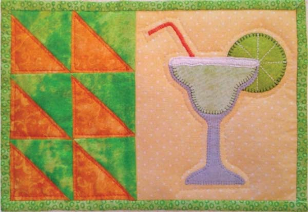 Scrappy Happy Hour Mug Rug
