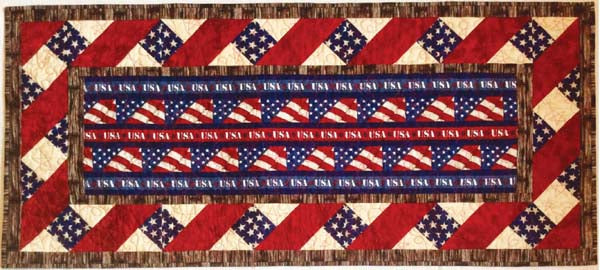 American Honor Table Runner PDF Pattern