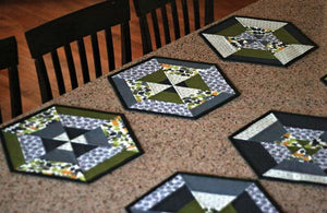 Set of 6 Hexie Placemats PDF Pattern