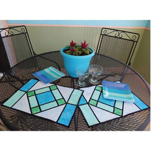 Stained Glass Placemats PDF Pattern