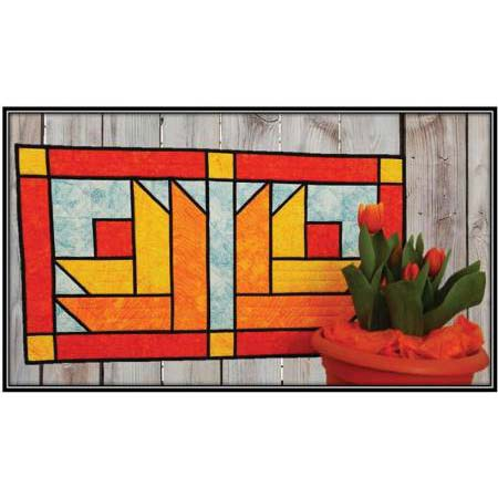 Stained Glass Tulips PDF Pattern