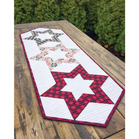 Hollow Star Table Runner PDF Pattern