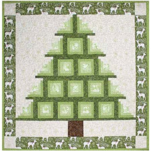 Log Cabin Tree PDF Pattern