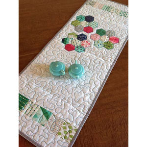 Mod Hexie Flower Runner PDF Pattern