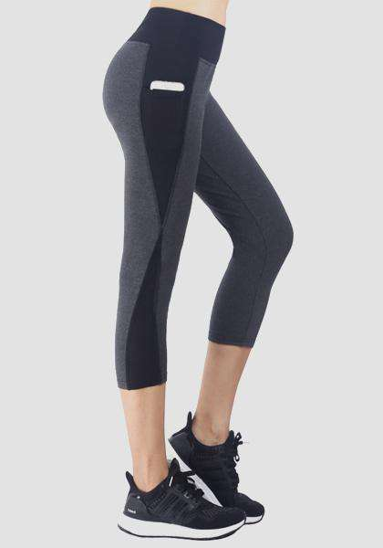 Creative Mesh Pocket Yoga Capris Leggings
