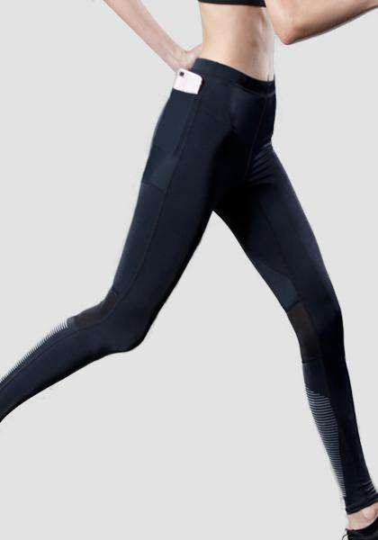 Reflective yoga pants