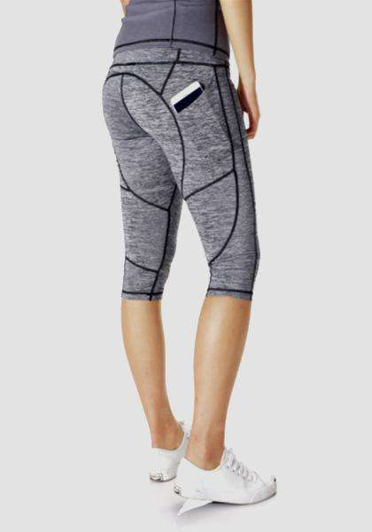 Gym Athletic Skinny Fitness Yoga Pants-Long Leggings-2UBest.com-Grey/Grey-L-Short-2UBest.com